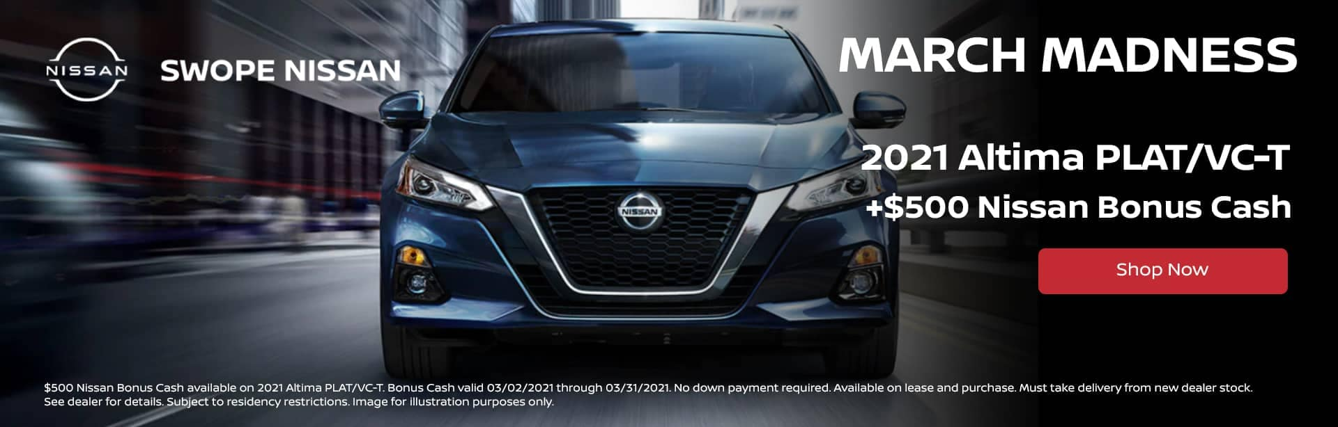 March Madness Deal - The 2021 Nissan Altima PLAT/VC-T