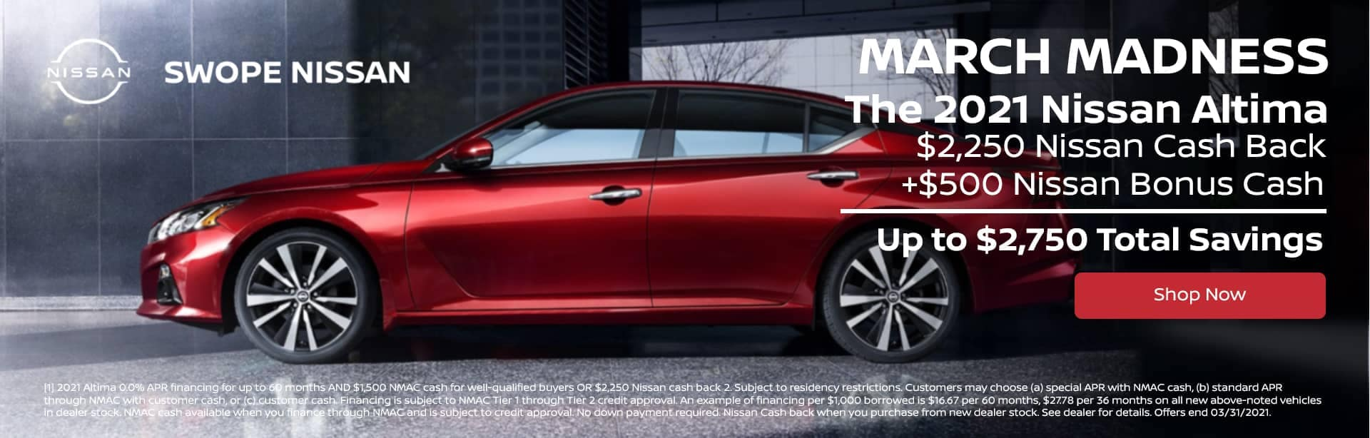 March Madness Deal - The 2021 Nissan Altima