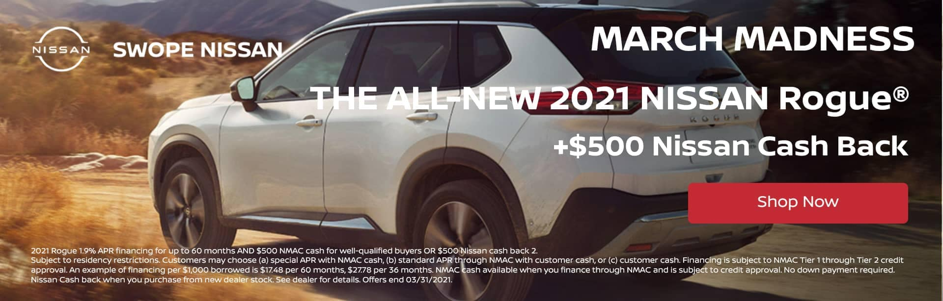 March Madness Deal - The All-New Nissan Rogue