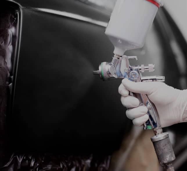 spraying car body