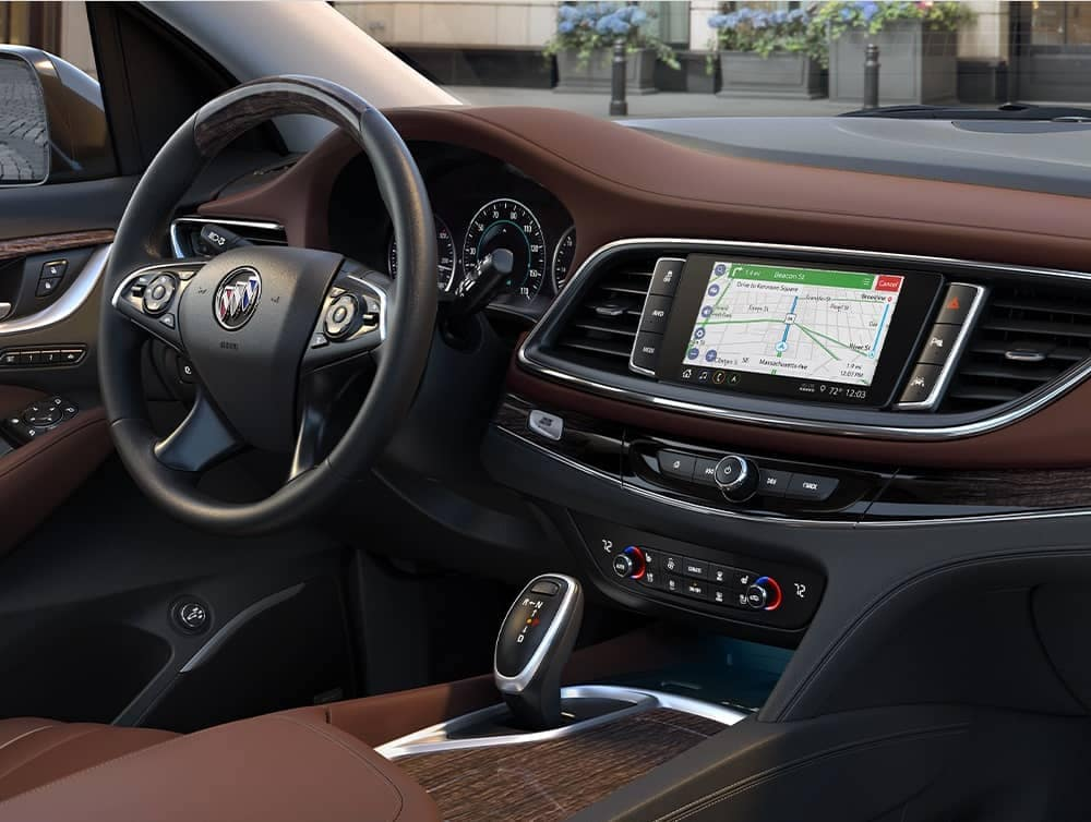 An interior shot of a dashboard