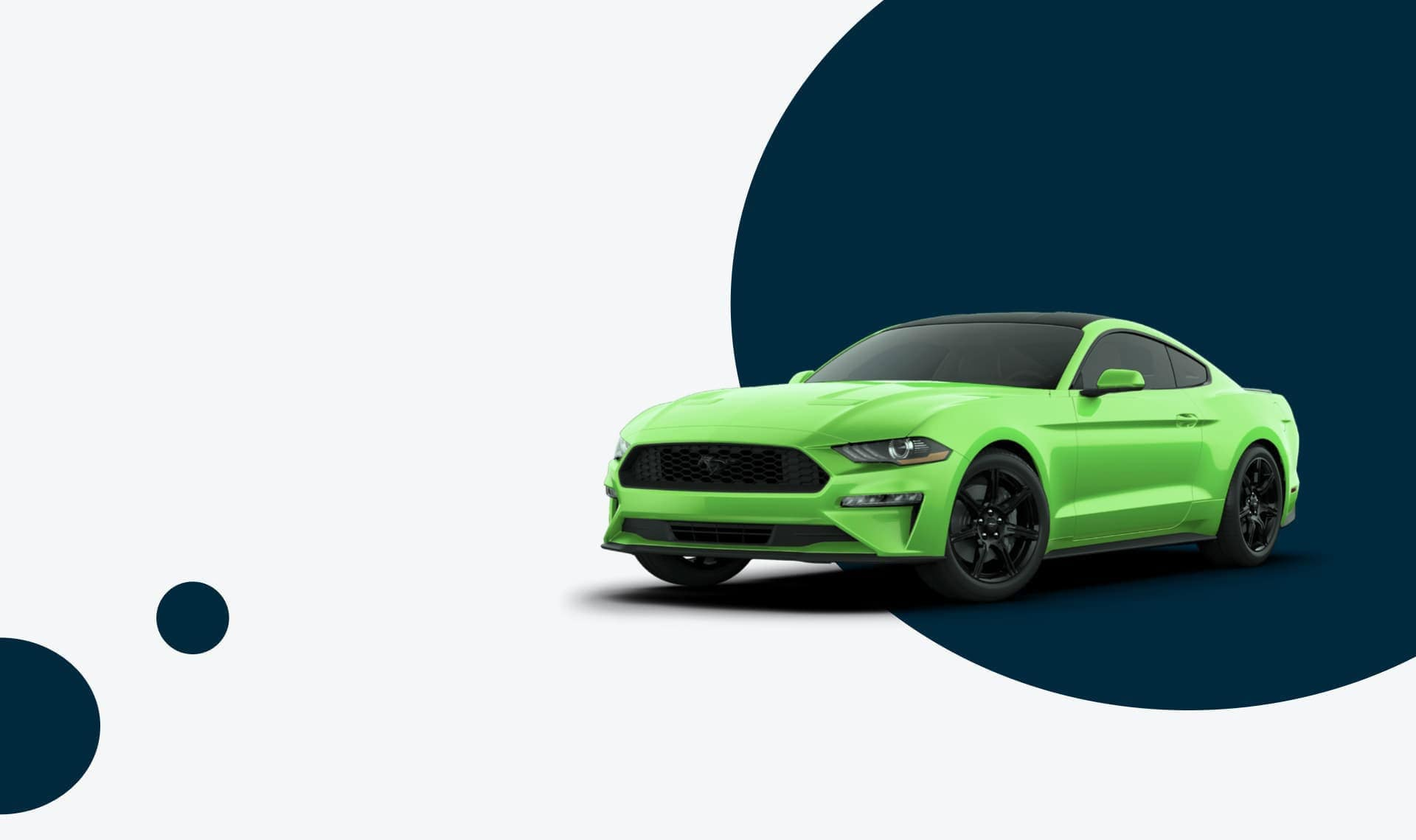 Green mustang graphic