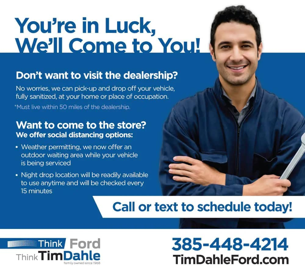 Tim Dahle Ford Service pickup & dropoff