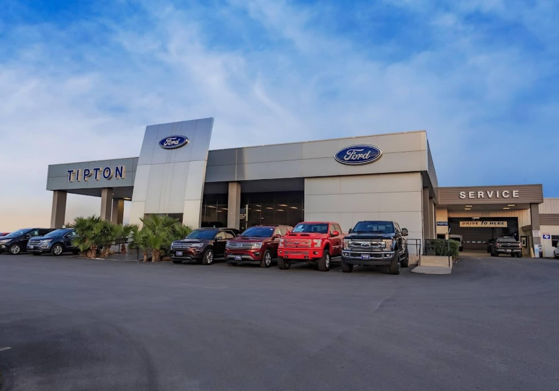 Tipton Ford Brownsville Dealership Outside