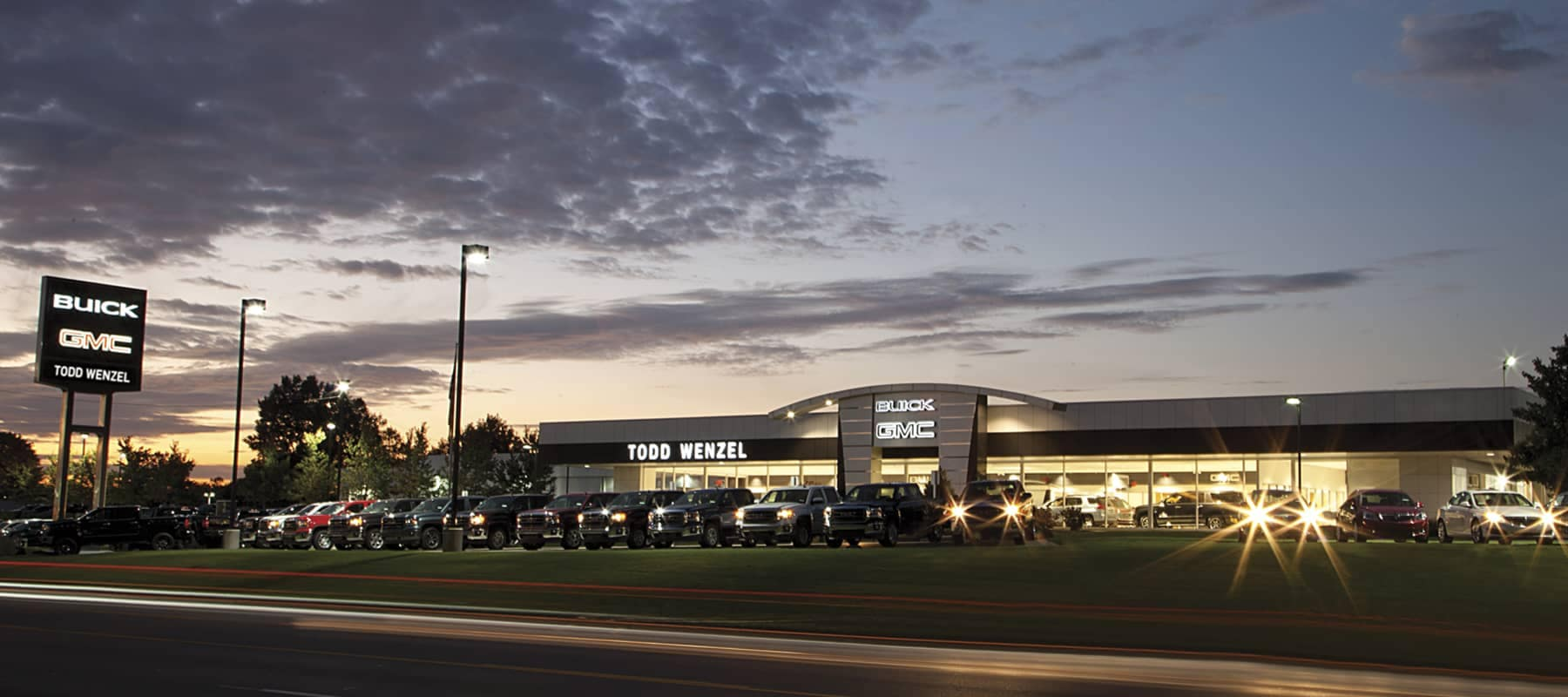 The exterior shot of Todd Wenzel Buick GMC Grand Rapids dealership.