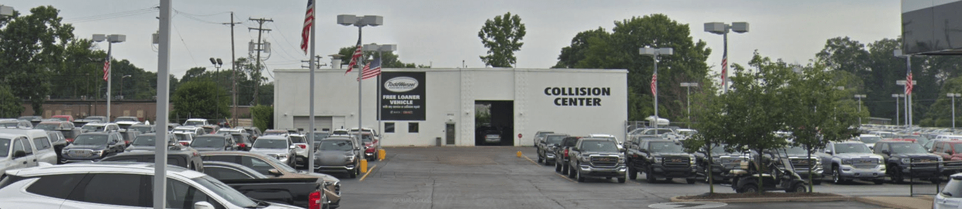 Exterior shot of Todd Wenzel Collision & Appearance Center in Davidson MI