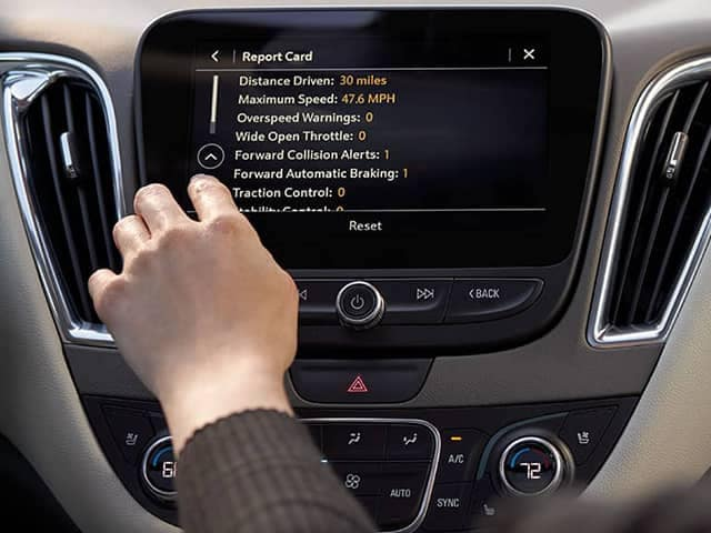 Chevrolet Report Card on Dashboard
