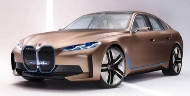 Copper Gold BMW i4