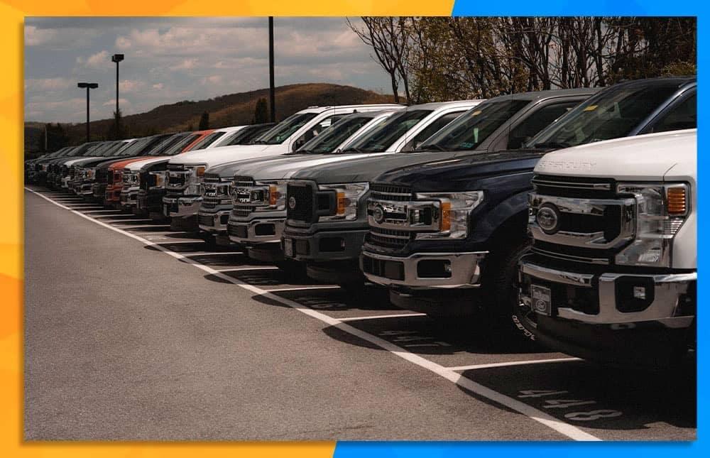 Truck Lineup at Tom Masano Ford
