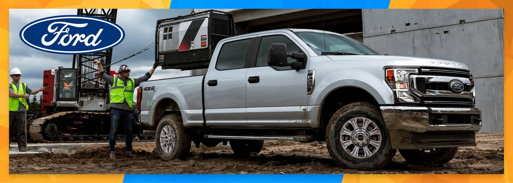 Ford F150 at a worksite
