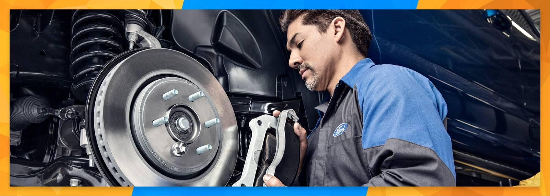 Ford Commercial Trucks - service technician adjusting breaks