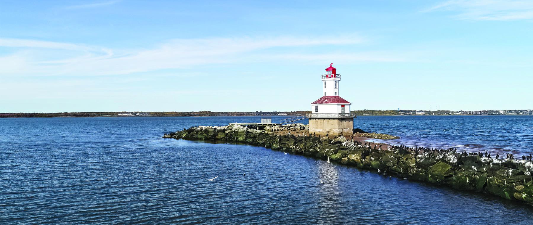 Lighthouse by Ocean