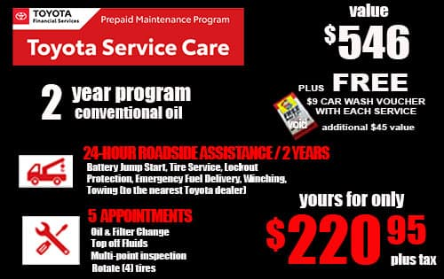 2 year Conventional oil Toyota Service Care