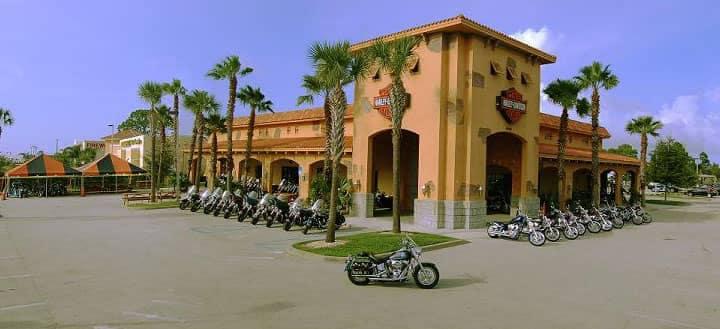 Outside view of Treasure Coast Harley Davidson entrance