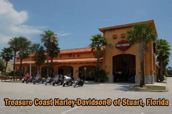 Entrance to Treasure Coast Harley Davidson
