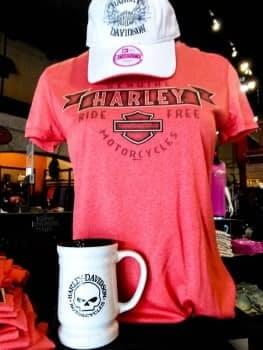 Harley Davidson Tshirt on a manequin