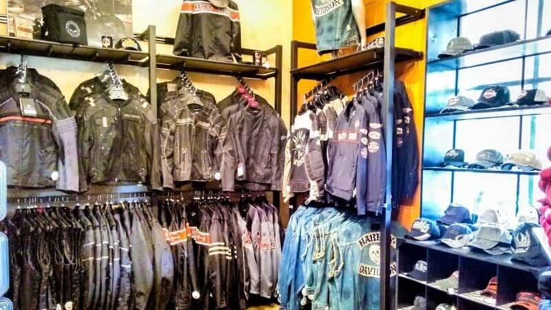 display of Harley Davidson jackets