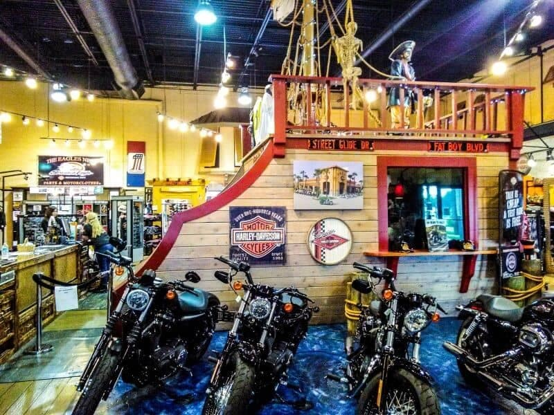 view of Treasure Coast Store showing a pirate walking along the deck