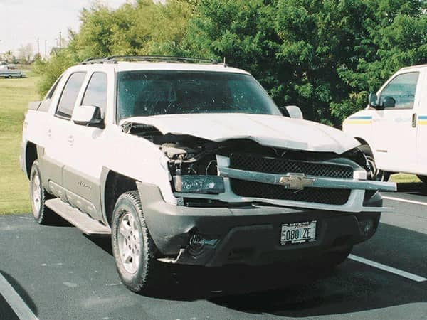 Uftring Body Shop Image - Chevy truck totaled pre-repair