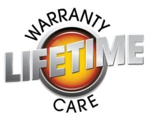 Lifetime warranty logo
