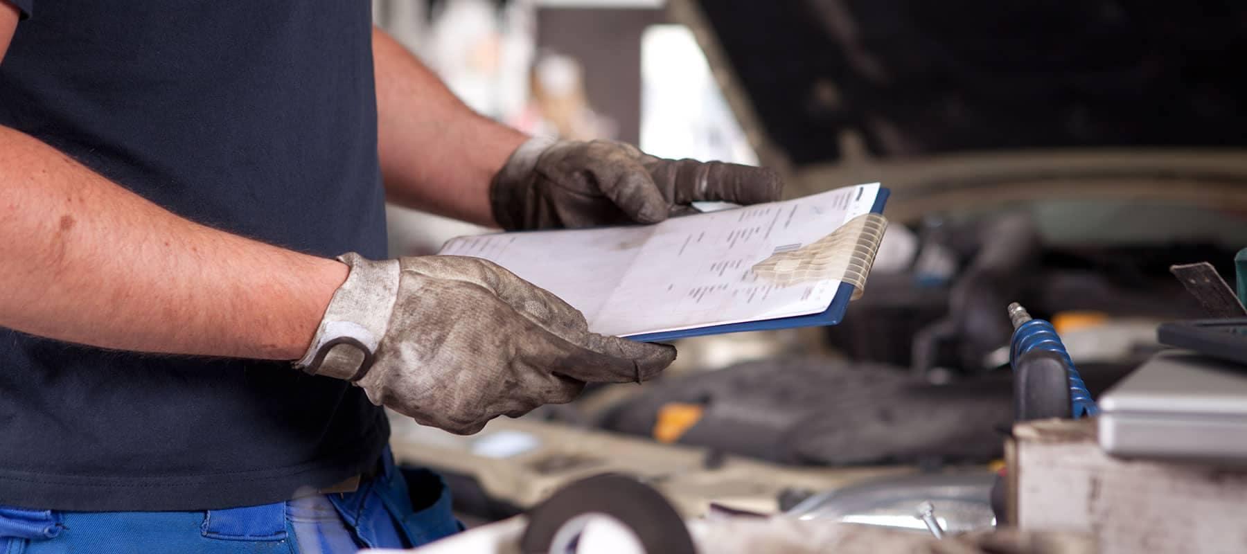 Service Center - Vehicle Inspection Checklist
