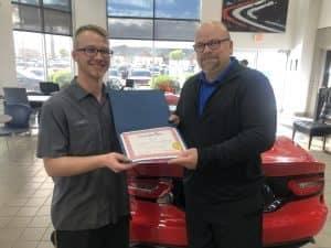 handing over certificate