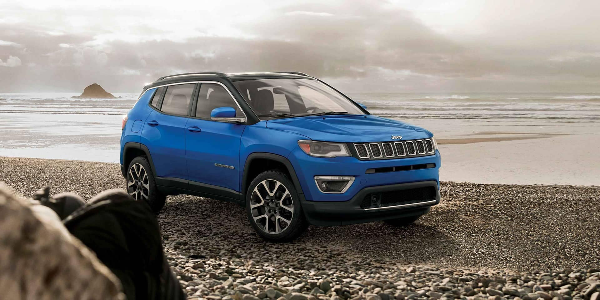 Blue Jeep Compass