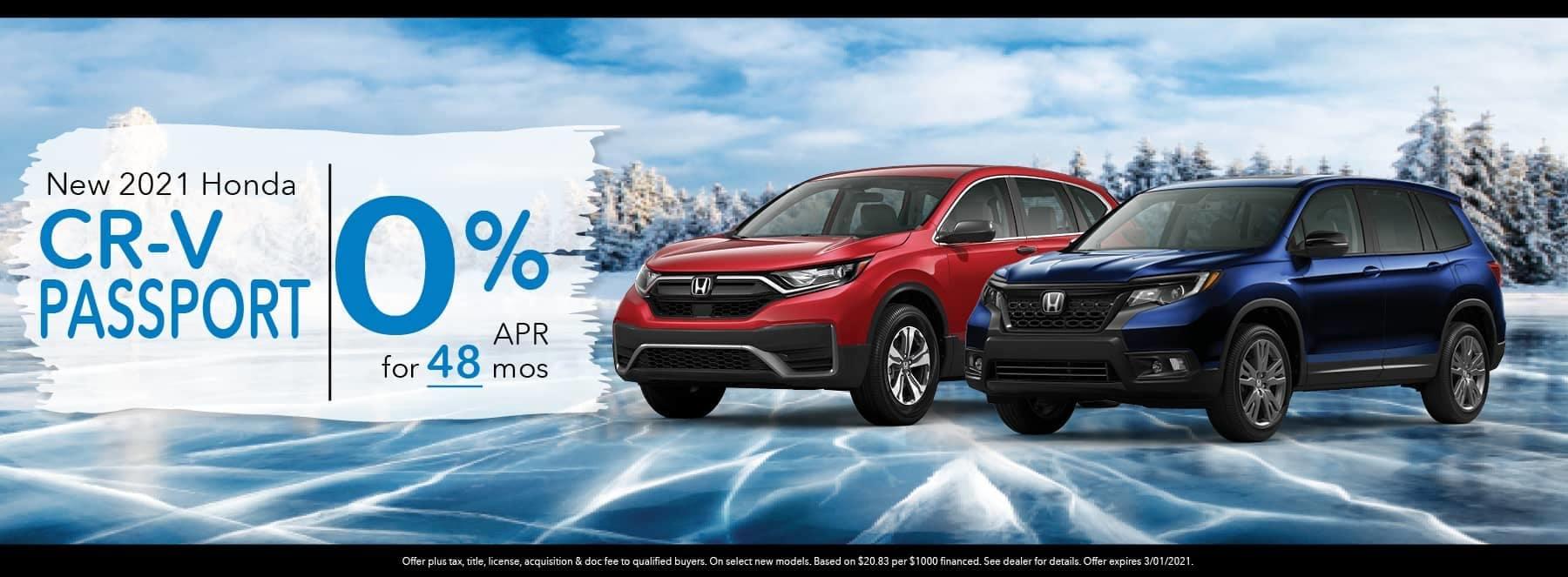 New 2021 Honda CR-V Passport - 0% APR for 48 Months
