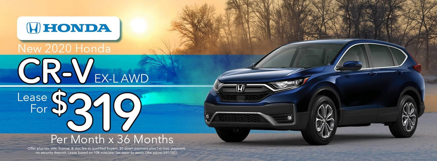 New 2020 Honda CR-V EX-LAWD - Lease for $319 per Month for 36 Months
