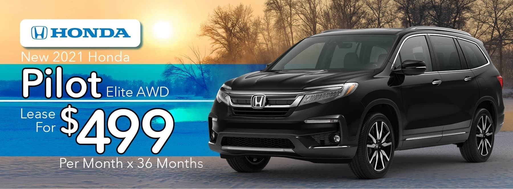 New 2021 Honda Pilot Elite AWD - Lease for $499 per Month for 36 Months