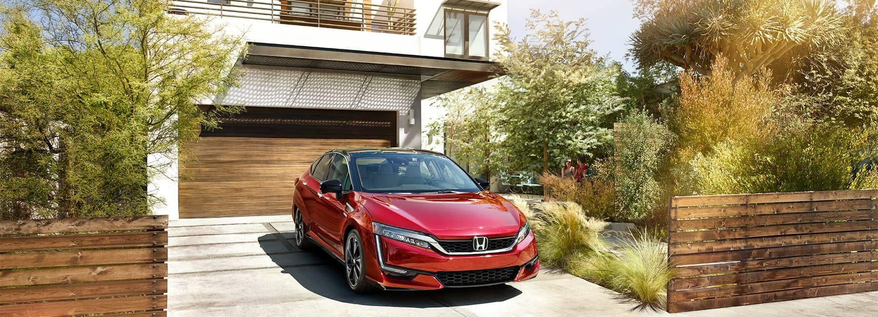 2020 Red Honda Clarity Parked in a very nice Garage