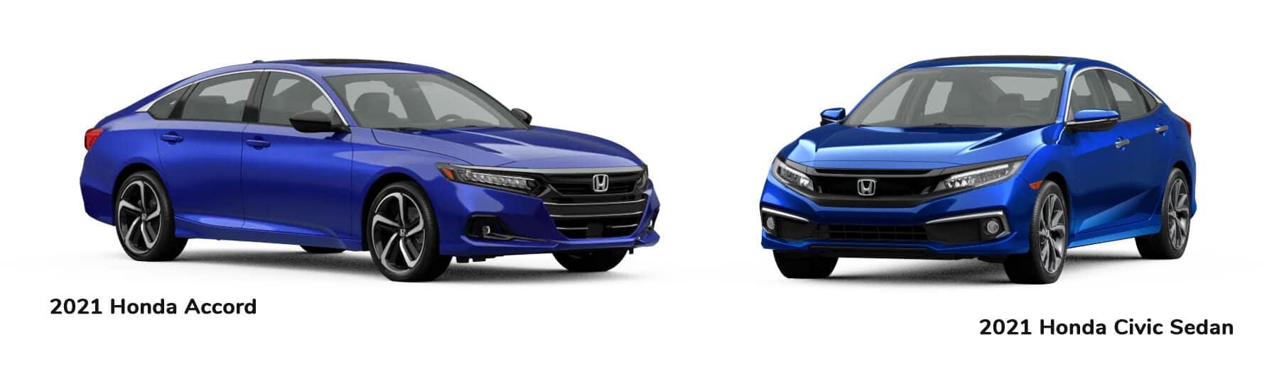2021 Accord vs. 2021 Civic Sedan Jellybean