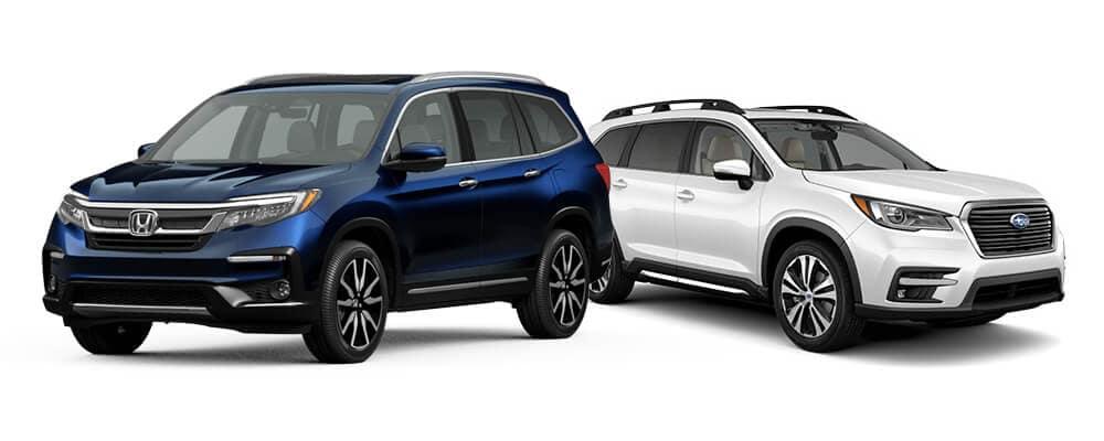 Honda Pilot vs. Subaru Ascent Jellybean
