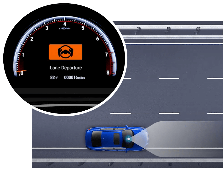 Honda Road Departure Mitigation Alert Icon Image