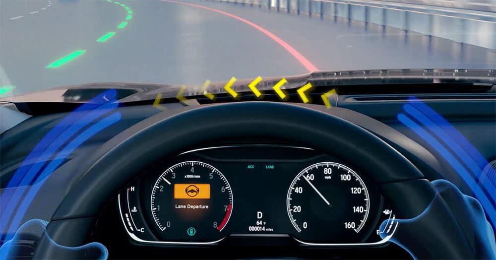 Honda Road Departure Mitigation Steering Wheel Image