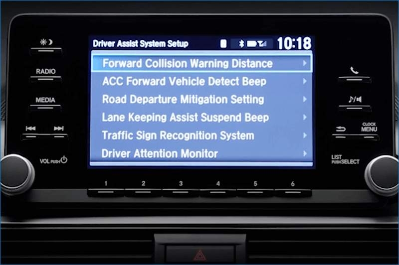 Vern Eide Honda CMBS Settings Screen Image
