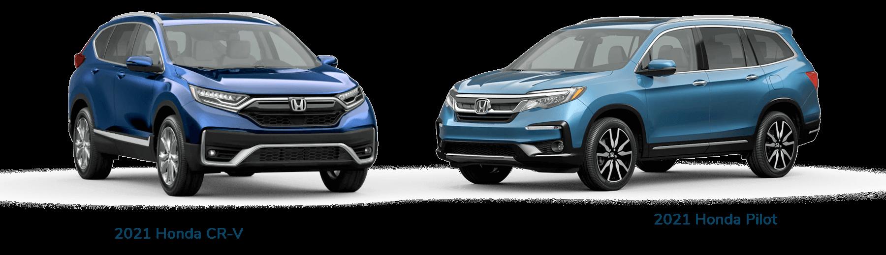 2021 Honda CR-V vs. 2021 Honda Pilot Jellybean