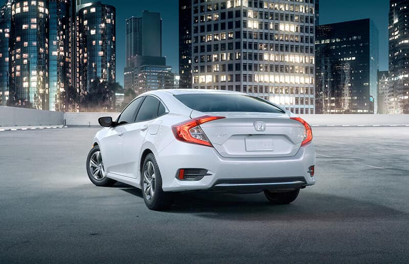 2021 Honda Civic Sedan Rear Angle City Location