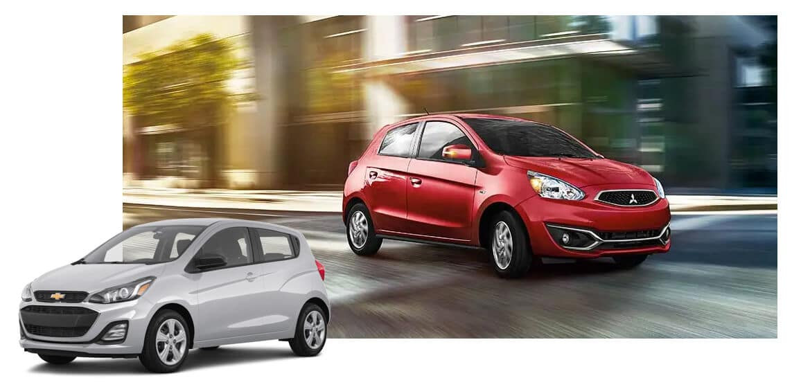 2020 Mitsubishi Mirage vs 2020 Chevy Spark Image