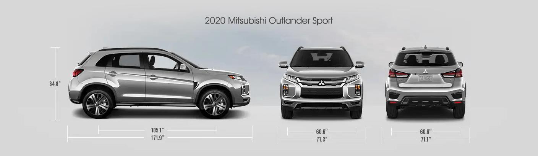 2020 Mitsubishi Outlander Sport Dimensions