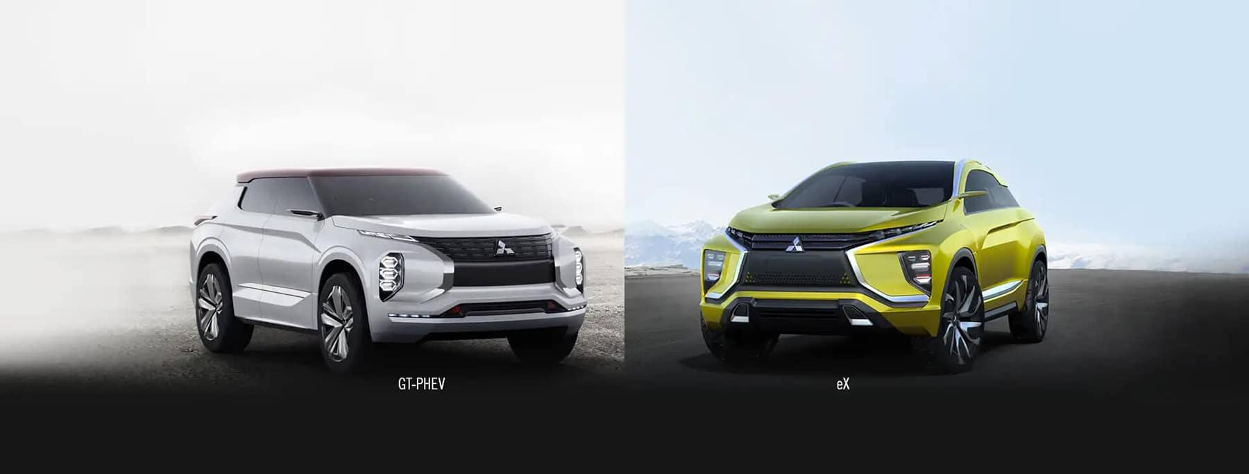 Mitsubishi GT PHEV and Mitsubishi eV Slider