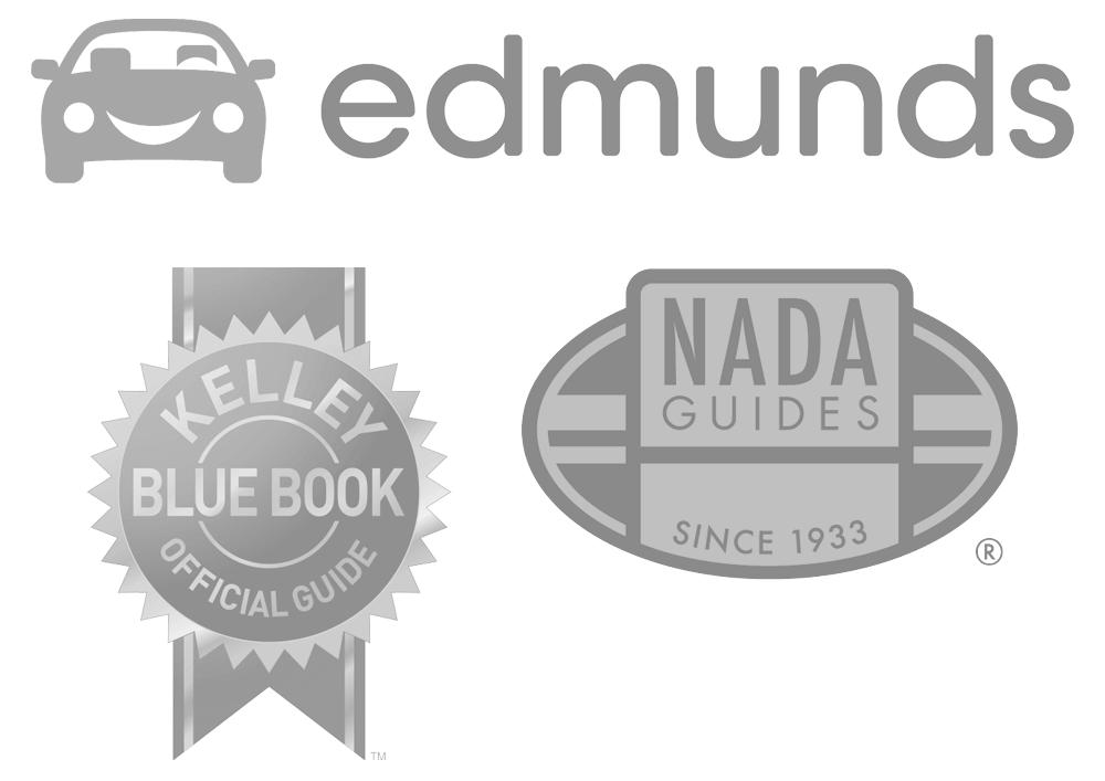 Vern Eide Motorcars NADA KBB.com Edmunds Logo Collage