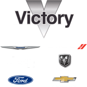 Vicory logo with Chrysler Dodge Jeep Ram Ford and Chevy logos
