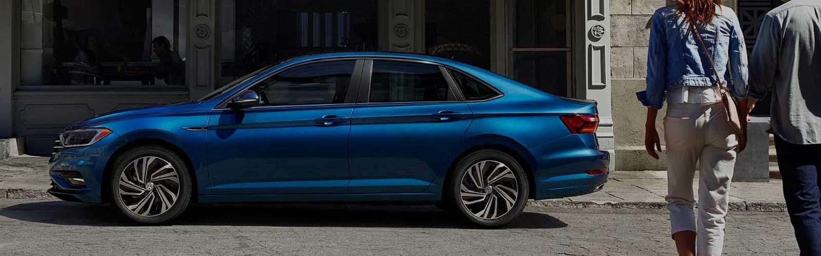 Volkswagen parked on street