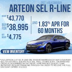 ArteonSELRline-Purchase-Specials-VWMarion-Feb2021