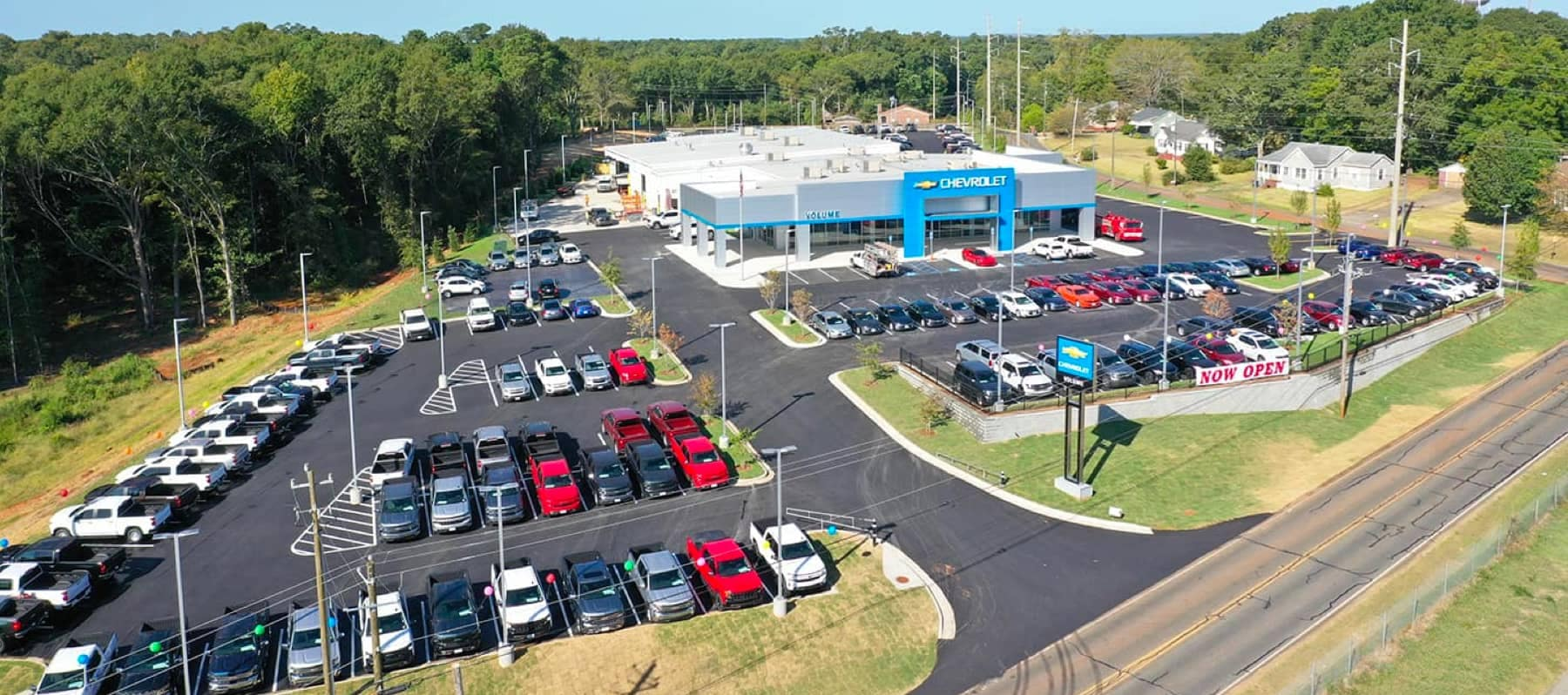 An exterior shot of a Volume Chevrolet dealership.