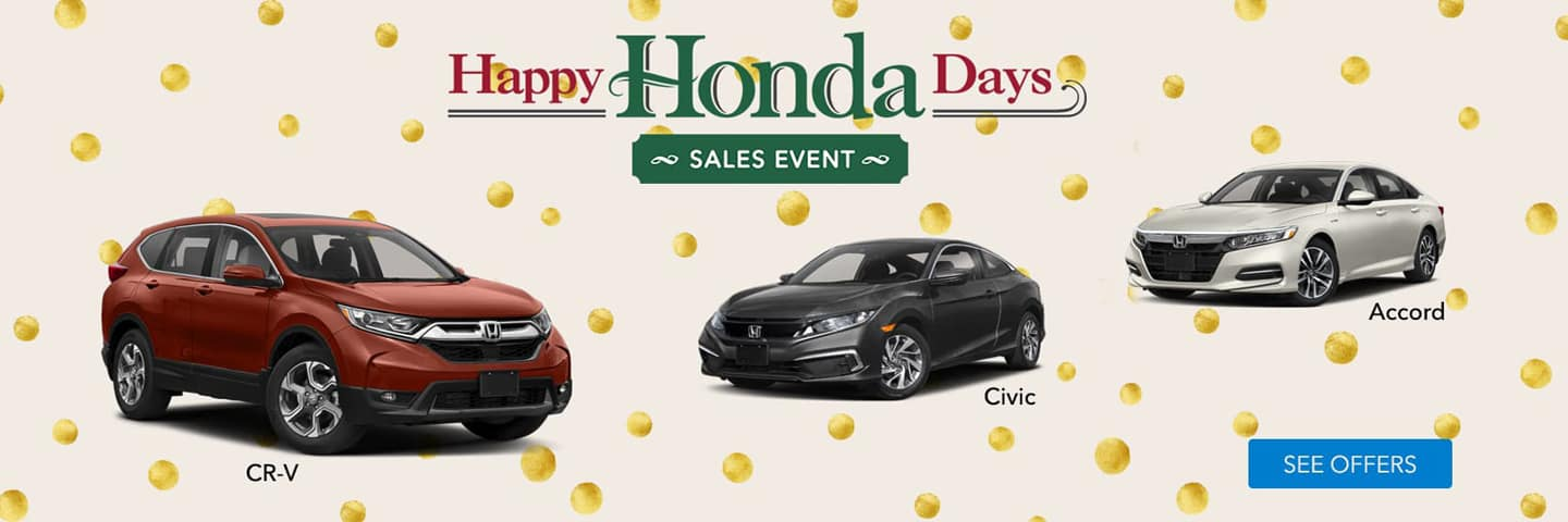3 Honda Cars With Holiday Background