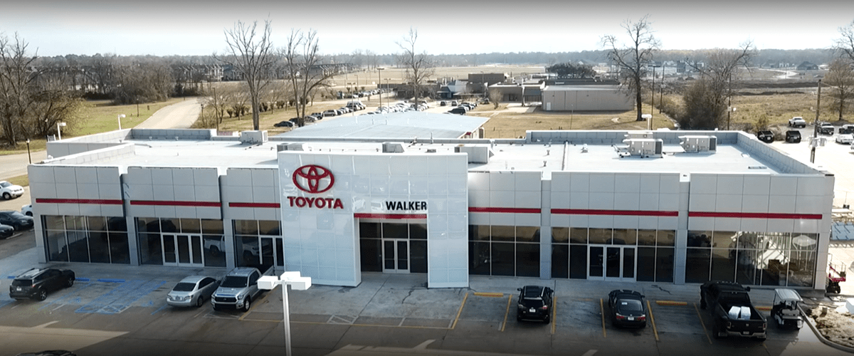 exterior aerial view of dealership