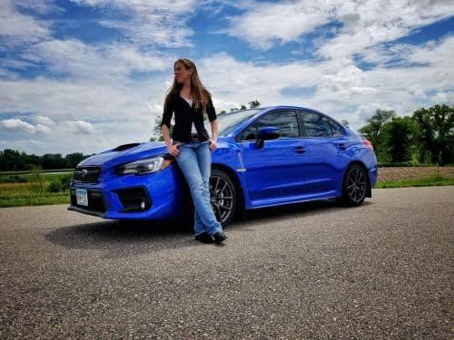 Blue Subaru