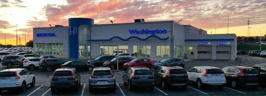 Dealership at dusk